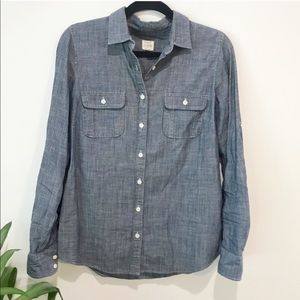 J. Crew Chambray Button Front Shirt